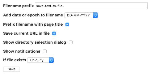 Screenshot: Meine Einstellungen für das Add-on auf der about:addons-Seite von Firefox