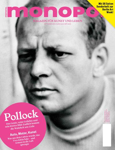 Monopol-Magazin-Cover mit einer Titelgeschichte über Jackson Pollock